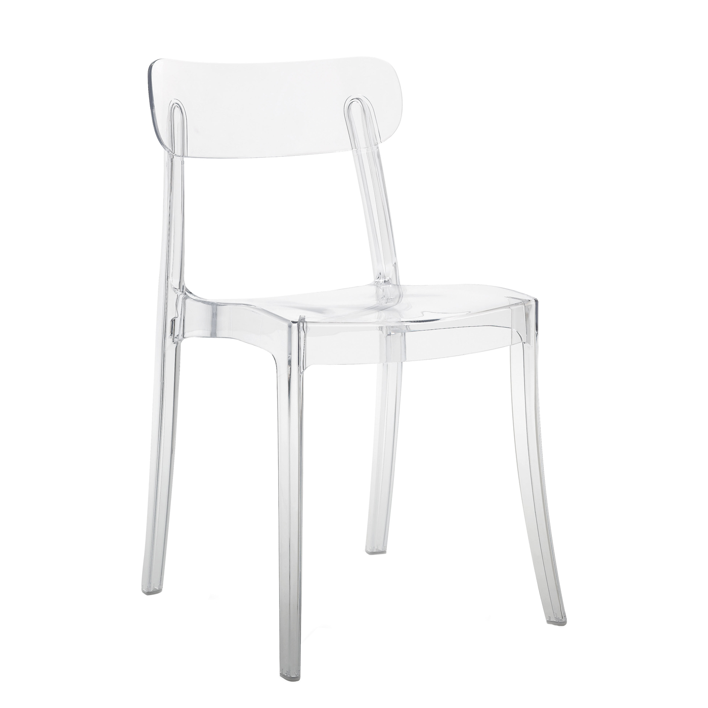 Modern outdoor transparent cafe chair