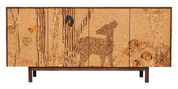 Cork Mosaic Sideboard Forest Long