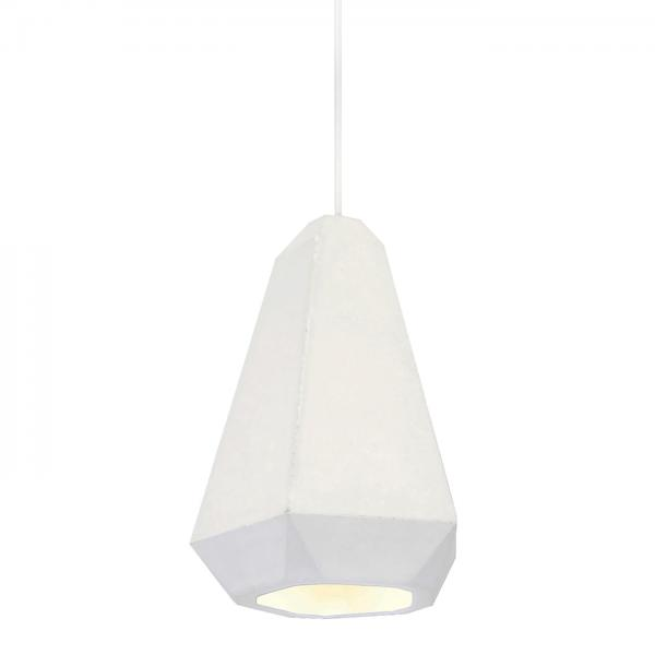 Portland Pendant Light White Plaster