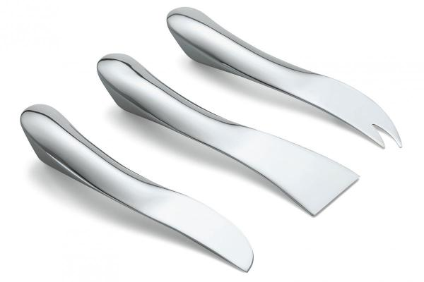 Wave cheese knife set