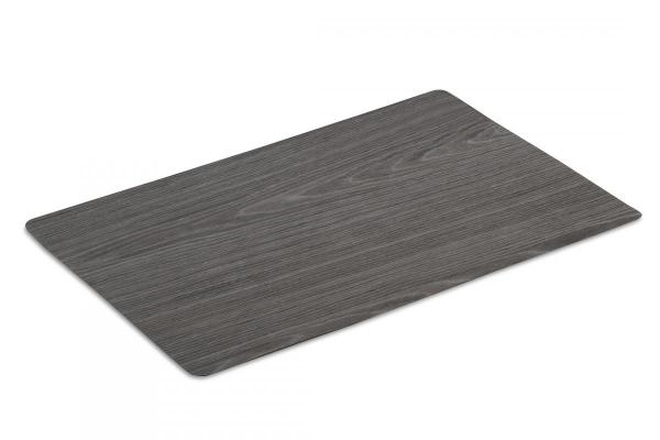 Wood black placemat set