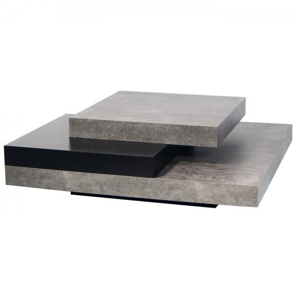 Wood And Metal Multi Level Coffee Table.Slate Coffee Table