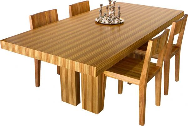Zebra Wood Dining Table