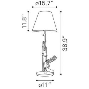machine gun table lamp lines