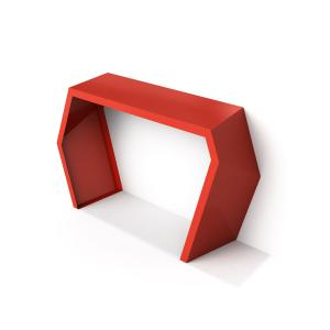 modern console table red