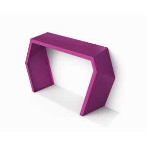 modern console table purple