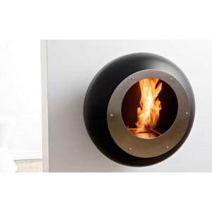 Cocoon Vellum Black Fireplace