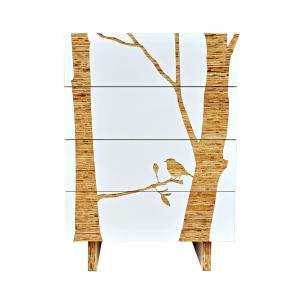 Trees Graphic Tall Dresser