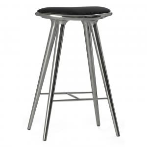 Mater Bar Stool Polished Aluminum