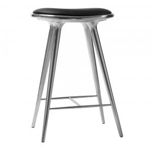 Mater Counter Stool Polished Aluminum