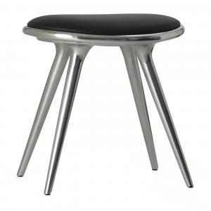 Mater Low Stool Polished Aluminum