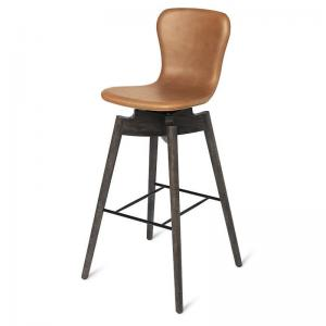 Shell Counter Stool Brandy Leather