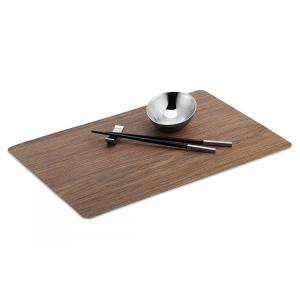 Wood brown placemat set