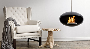 cocoon modern fireplace