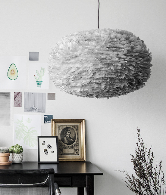 Vita Modern Eos Pendant Light Grey & Vita Eos Feather Pendant Light | Euffslemani.com