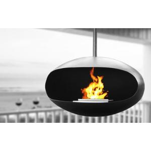Cocoon Aeris Black Fireplace