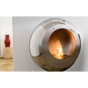 Cocoon Vellum Steel Fireplace