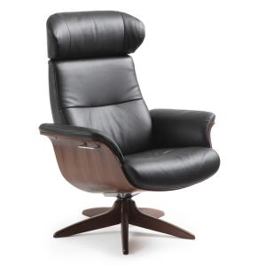 Timeout Reclining Lounge Chair Wood Base