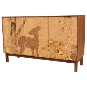 Cork Mosaic Sideboard Forest